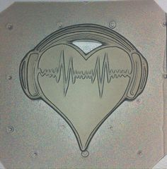 Flexible Resin Mold I Heart Music Mould by KAPCREATIONS on Etsy