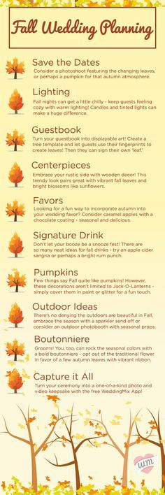Fall weddings are the prettiest! Follow these tips when registering it all! #11 is my favorite!
