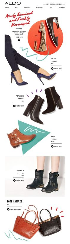 Aldo - Newly Remixed email design