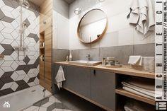 Mieszkanie w Katowicach 65m² - Mała średnia łazienka w bloku w domu jednorodzinnym bez okna, styl skandynawski - zdjęcie od More-IN Architekci
