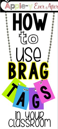 This classroom management Brag Tags system works so well with my students. Here are ideas to use with your printable brag tags and a way to display them! There is even a freebie included! Classroom Behavior Management, Behaviour Management, Class Management, Classroom Economy, Management Tips, Brag Tags, Too Cool For School, School Fun, School Stuff
