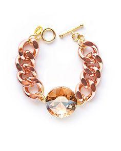 Chunky Rose Crystal Bracelet