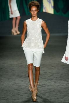 look 4  Spring 2013 Ready-to-Wear  Vera Wang. Really like this top.