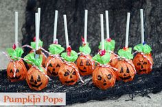 Pumpkin suckers - I volunteered in my son's class for his Harvest party and made these with the kids. They turned out so cute! We used orange napkins, pennies, tootsie pops, green pipe cleaners, markers or stickers.