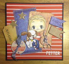 Kanonfint kort laget av Leia for Scrapfabriken. http://scrappfabriken.blogspot.se
