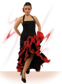 Flamenco costume for dancing with knitting and crape tissues, model Costume Flamenco, Flamenco Skirt, Flamenco Dancers, Costume Dress, Dance Costumes, Belly Dancing For Beginners, Belly Dancing Classes, Happy Dance, Dance Outfits