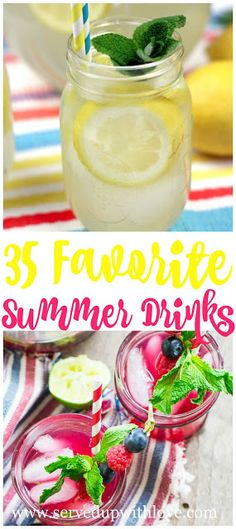Easy, no fuss recipes from my southern kitchen. Fruity Drinks, Non Alcoholic Drinks, Refreshing Drinks, Fun Drinks, Healthy Drinks, Beverages, Cocktails, Cold Drinks, Summer Drink Recipes