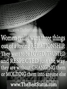 What women want out of a relationship