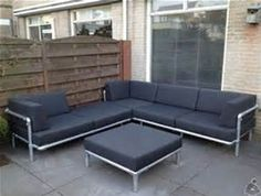 Sofa made with Kee Klamp pipe fittings. | Pipe Furniture | Pinterest ...