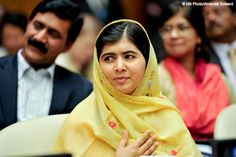 """Because inspiration can come from anyone, anywhere.   Instead of sending weapons to Afghanistan and all these countries which are suffering from terrorism, send books. Instead of sending tanks send pens. Instead of sending soldiers, send teachers.""""   The ever inspiring Malala Yousafzai speaking last week at the UN at the first anniversary of Global Education First, which aims to put every child in school.   Watch this video to see Malala speak and find out more: http://uni.cf/16PXDAT"""