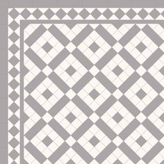 Pattern using 2 x 2 tiles- London Mosaic Victorian tile design: Colliford 50 - multi coloured monochrome, traditional victorian, floor tiles