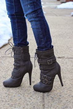 ღ Gone are the days when ankle boots represented only the roughs. Today ankle boots are the new statement for charming beauties. It time to rock when you walk! ღ