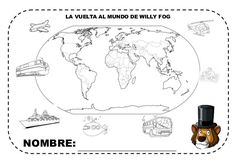 Fichas proyecto la vuelta al mundo Around The World In 80 Days, Around The Worlds, Summer Courses, Genius Hour, Conte, Coloring Pages, Africa, India, Google