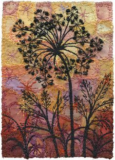 by Kirsten's Fabric Arts Free Motion Embroidery, Embroidery Applique, Machine Embroidery, Embroidery Designs, Textile Fiber Art, Textile Artists, A Level Textiles, Creative Textiles, Creative Embroidery