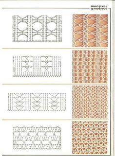 Many crochet lace patterns