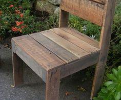 DIY Rustic Garden Chair Made from Shipping Pallet via http://diypallets.com