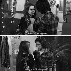 Beck(Avan Jogia) & Jade(Elizabeth Gillies) on Victorious Victorious Nickelodeon, Icarly And Victorious, Victorious Jade And Beck, Movies Showing, Movies And Tv Shows, Jade West, Love Me Again, Nickelodeon Shows, Sam And Cat