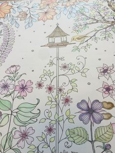 Birdhouse In The Garden My Colouring Gallery