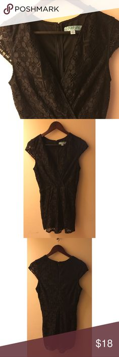 Francesca's Collections Black Lace Jumpsuit This Francesca's Collections/Anna Be black lace jumpsuit is cute for the day and hot for nighttime. It's very versatile. The lace has started piling, specifically on the bottom and under the armpits. The price is adjusted to the quality of the item and the season.  Bundle me up and save! 💋  Quality- 2 (Please see quality disclaimer in my closet) Francesca's Collections Pants Jumpsuits & Rompers