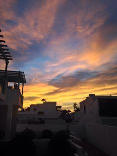 Sunrise over Puerto del Carmen #lanzarote #friends