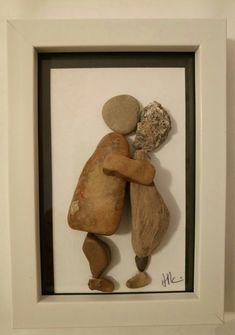 Stone Pictures, Stone Crafts, Pebble Art, Stone Art, Rock Art, Rocks, Craft Ideas, Diy Crafts, Decorations