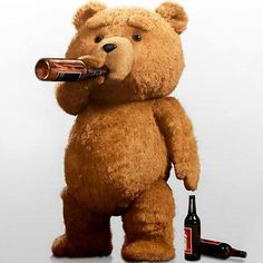 'Ted' by Seth MacFarlane. Is this film over-rated? I laughed in places, didn't finish it after a long day at work and doubt I will resume it. Disney Wallpaper, Cartoon Wallpaper, Iphone Wallpaper, Movie Wallpapers, Cute Wallpapers, Bear Drink, Valentines Day Teddy Bear, John Bennett, Ted Bear