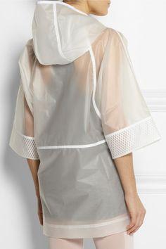 Stella mccartney adidas white raincoat @jacintachiang