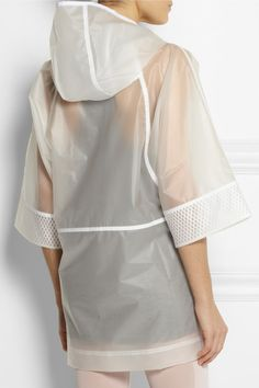 Stella mccartney adidas white raincoat @jacintachiang