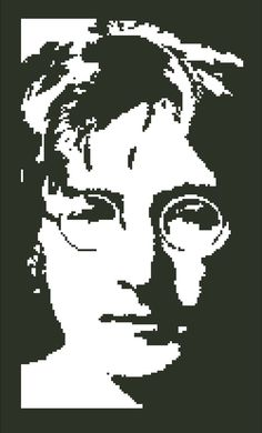 Cross Stitch Pattern Singer John Lennon The by SilhouetteCentral, $4.00