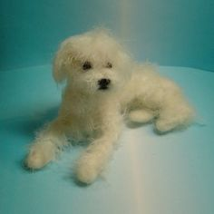 Felted fluffy puppy