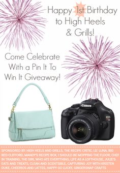 Pin It to Win It Giveaway- just in time with another on the way and the old camera on its way out!