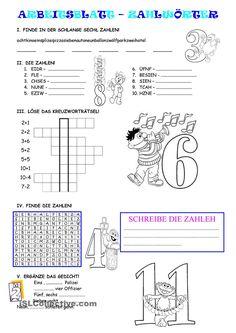 Zahlen 1-12