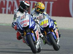 Valentino Rossi and a fool.