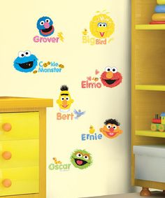 Take a look at this Sesame Street Scribble Peel & Stick Wall Decals by Sesame Street on #zulily today!