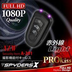 最新!超小型カメラ最前線: キーレス型 超小型ビデオカメラ スパイカメラ スパイダーズX (A-201) FULL HD1080...