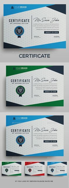 Buy Certificate by DUrgaDesigns on GraphicRiver. Certificate Template Fully Clean Certificate Paper Size With BleedsQuick and easy to customize templatesAny Size C. Stationery Templates, Stationery Design, Print Templates, Brochure Design, Certificate Design Template, Resume Design Template, Make Business Cards, Business Card Design, Leeds