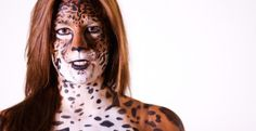 Jaguar Body painting  Copyright faceapaintingmontreal.com