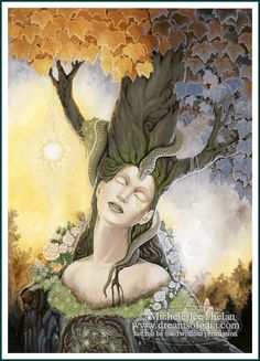 ✯ The Messenger Oracle Heed Your Dreams Card 16 :: Artist Ravynne Michele Phelan ✯