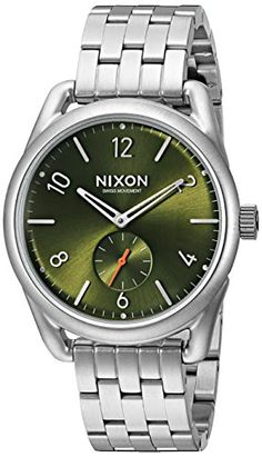 Nixon Men's A9502210 C39 SS Analog Display Swiss Quartz Silver Watch -- Find out more about the great product at the image link.