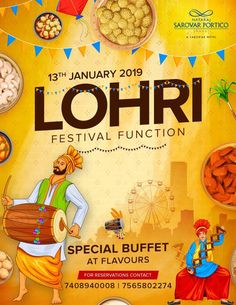 Time to gear up for the yearly Lohri celebrations at Nataraj Sarovar Portico Jhansi. The feast of sweet munchies and special buffet is waiting for you on January
