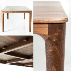 Walnut is rather delicious I'd happily sit around this table everyday of the week. This has gone to a local family in Freshwater via Just in time for Christmas Walnut Furniture, Smart Furniture, Furniture Legs, Dining Furniture, Furniture Design, Woodworking Inspiration, Wood Joinery, Walnut Table, Wooden Dining Tables