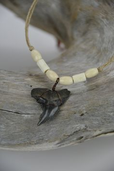 Snaggle Shark Tooth Necklace by JustBeadHappy2 on Etsy https://www.etsy.com/listing/197124048/snaggle-shark-tooth-necklace