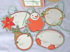 Holiday gift tags made with the #Cricut!
