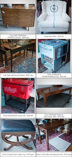 July 15: Check out a few of the hundreds of items that just landed at Grandview Mercantile! Our Famous Semi-Annual Tag Sale is going on now through July 26, so most of the listings are at lower prices than what you see below. Contact us for more information.
