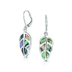 Purchase Rainbow Shell Nature Iridescent Leaf Drop Dangle Leverback Abalone Earrings For Women For Teen 925 Sterling Silver from Bling Jewelry Inc on OpenSky. Share and compare all Jewelry. Abalone Jewelry, Leaf Jewelry, Bling Jewelry, Resin Jewelry, Sterling Silver Pendants, 925 Silver, Native Indian Jewelry, Abalone Shell, Women's Earrings