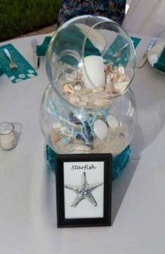 Beach Themed Crafts To Sell up Arts And Crafts Beer Parlor Menu Beach Wedding Centerpieces, Beach Wedding Favors, Wedding Table, Wedding Decorations, Wedding Parties, Wedding Ideas, Decor Wedding, Wedding Poses, Wedding Pictures