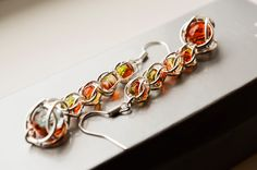 beaded earrings drop earrings captive by LumaHandmadeJewelry Beaded Earrings, Drop Earrings, Chainmaille, Gifts For Her, Dangles, Boho, Beads, Trending Outfits, Friends
