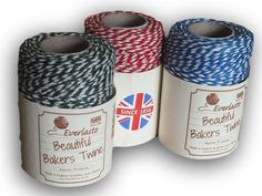 "Everlasto ""Beautiful"" Bakers Twine Primary Colour Craft Pack - 3 x 50m"