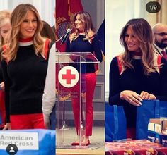 What Is Challenge, American Red Cross, Red Jeans, First Lady Melania Trump, Absolutely Stunning, Beautiful, Our President, Classy Women, Inauguration 2017