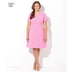 Simplicity Pattern 1458 Misses' & Plus Size Amazing Fit Dress
